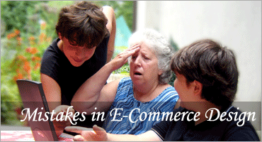 Mistakes in E-Commerce Design