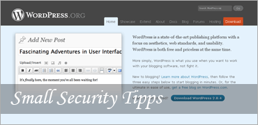 Small Security Tipps