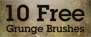 10 Free Grunge Photoshop Brushes