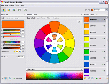 ColorSchemer Studioのキャプチャ:1