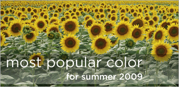 most popular color for summer 2009