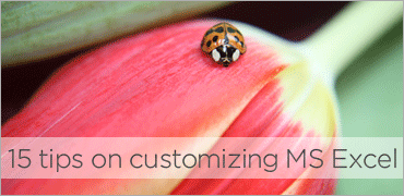 15 tips on customizing MS Excel