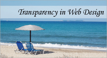 Transparency in Web Design