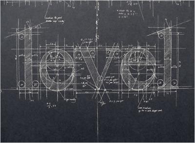 数式が書かれた黒板。