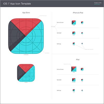 早くも登場 ios7用のアイコンのテンプレート素材 template for ios 7