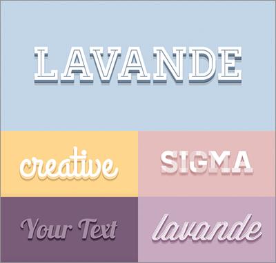 テキストに3dのかわいいエフェクトをphotoshopで適用する 3d font