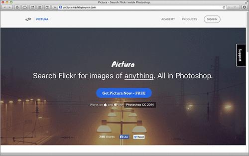 Photoshop上で画像検索できる優れもの!Flickrで商用利用できる画像を探すことができるPhotoshopの機能拡張 -Pictura