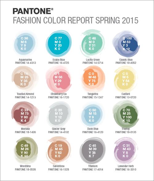 PANTONE 2015年 春の16色