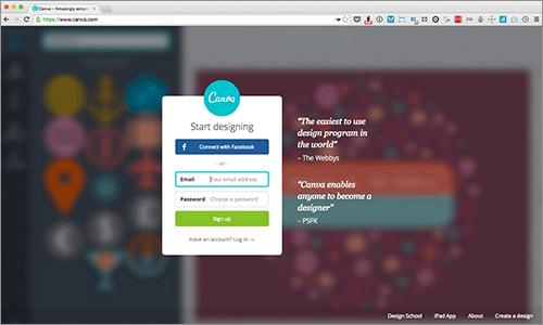 ブラウザ上で簡単にできる!インフォグラフィックやプレゼンテーション用の魅力ある画像が作成できる無料サービス -Canva