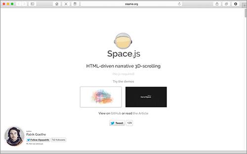 [JS]気持ちいいアニメーションを伴ったさまざまなスクロールエフェクトが簡単に実装できてしまうスクリプト -Space.js