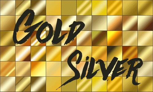 Webサイトcolissよりゴールド作成のグラデーションパターン