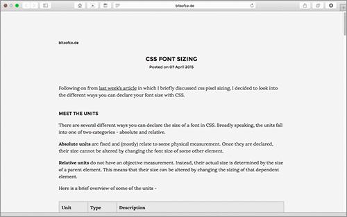 [CSS]フォントサイズの指定方法の基礎知識からレスポンシブに適した指定方法までやさしく解説