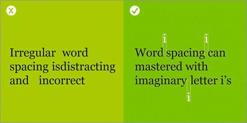 行間・単語間のスペースののよくある間違いと解決方法