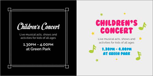 子供たちのコンサートのポスター