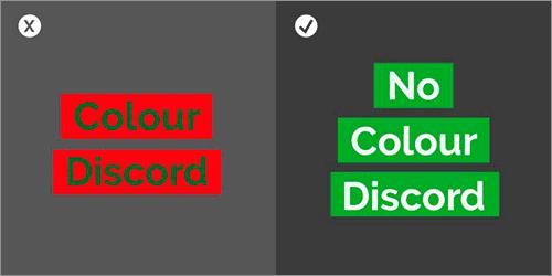 カラーの組み合わせののよくある間違いと解決方法