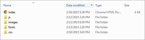 このチュートリアル用のファイル構成