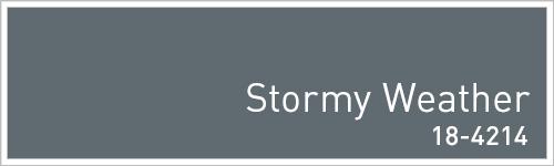 Pantone 2015年秋のトレンドカラー: Stormy Weather