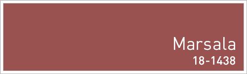 Pantone 2015年秋のトレンドカラー: Marsala