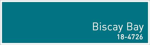 Pantone 2015年秋のトレンドカラー: Biscay Bay