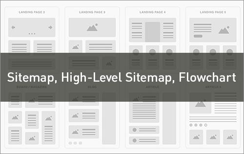 サイトマップやハイレベルサイトマップ、フローチャートなどのまとめ