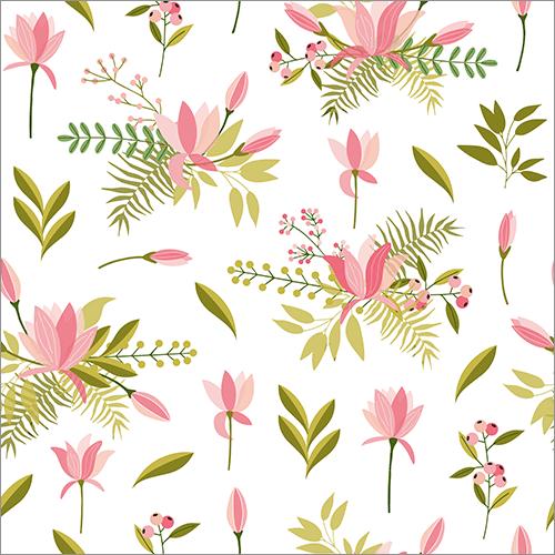期間限定無料 手描きのかわいい花や葉っぱを組み合わせて楽しむベクター