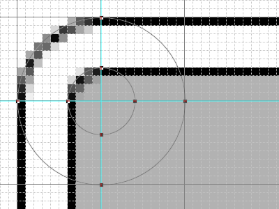 角丸パネルを重ねる時、それぞれの角丸をバランスよくする
