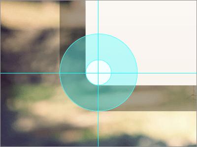 中心点を揃えてカーブを描く