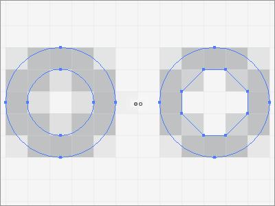 円をよりくっきり見せる