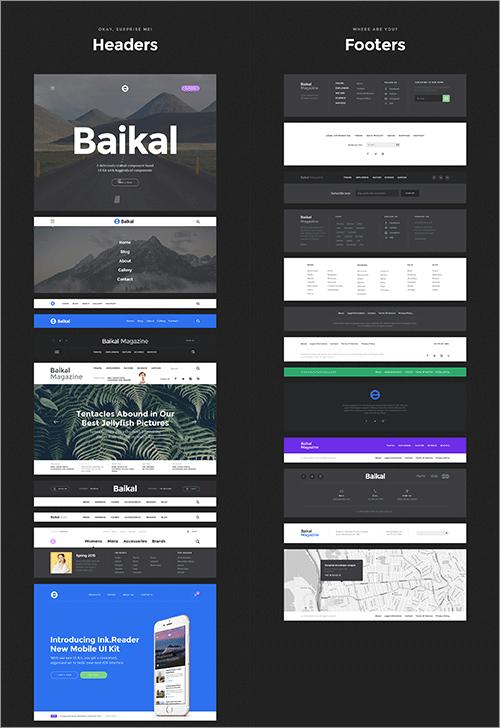 Baikal UI Kitのキャプチャ