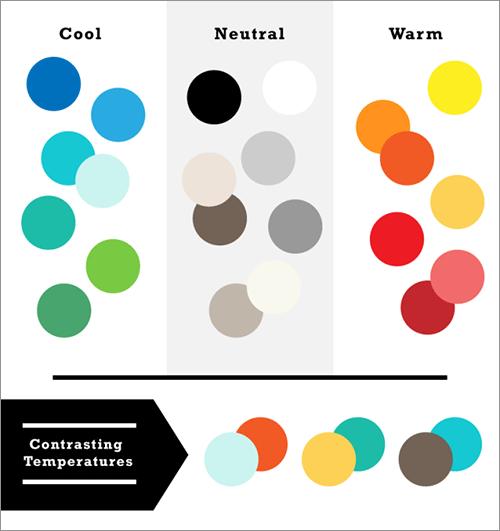 色温度でコントラストをつくる