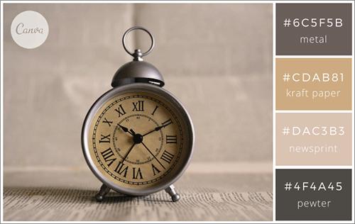 日常のアイテムにインスパイアされた色の組み合わせ
