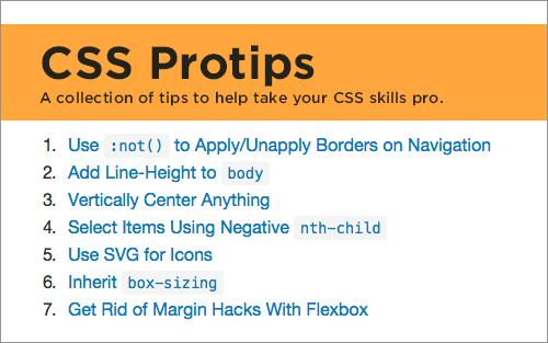 CSS Protips