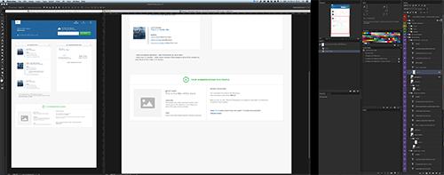 UIデザイナー向け デュアルディスプレイのワークスペース
