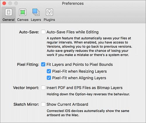 Sketch 3.4の新機能: 自動保存のオン・オフ