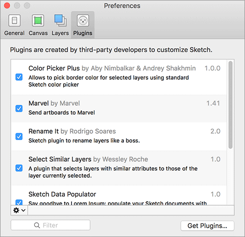 Sketch 3.4の新機能: プラグインの管理