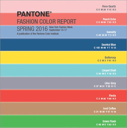 PANTONE 2016年 春の10色