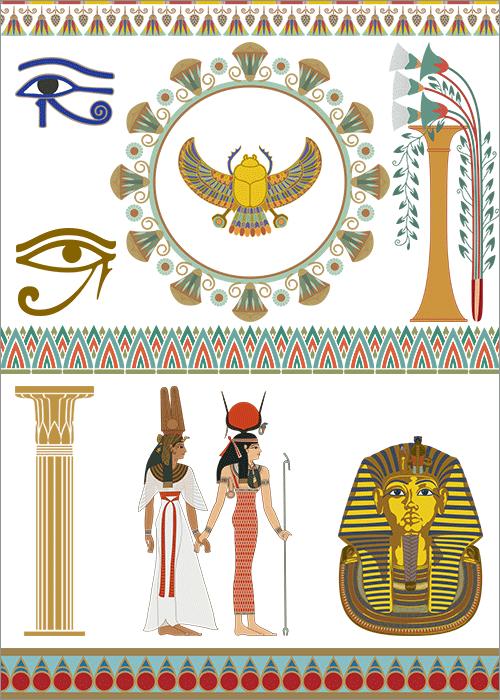 古代エジプトの素材の一部