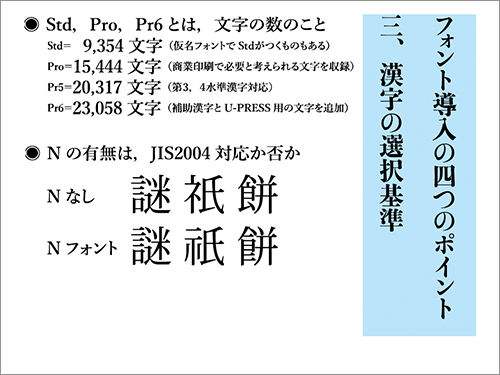 3. 漢字の選択基準