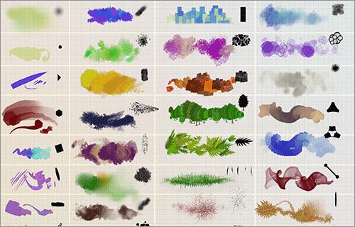 イラストの塗りのバリエーションが広がる!ダウンロードしておきたいPhotoshop用の無料ブラシセット -Oilpk Brush