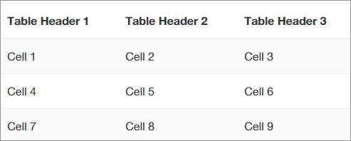 コンパクトなテーブル