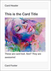 Cardsの実装サンプル