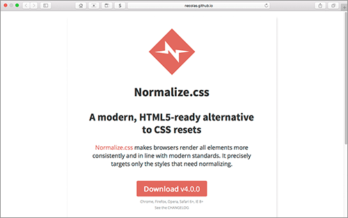 normalize.css v4.0.0