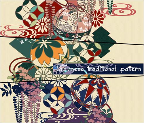 商用利用無料日本の伝統的な色使いが美しい和柄のパターン素材や