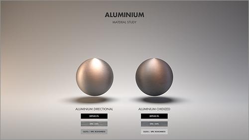 アルミニウムの質感