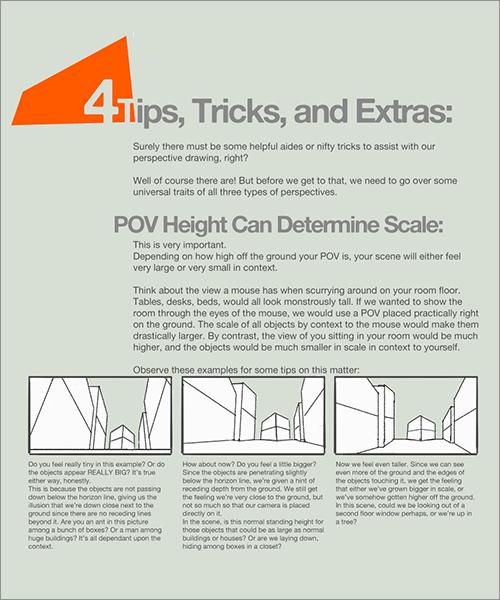 遠近法と構図: 視野の高さで大きさを表現