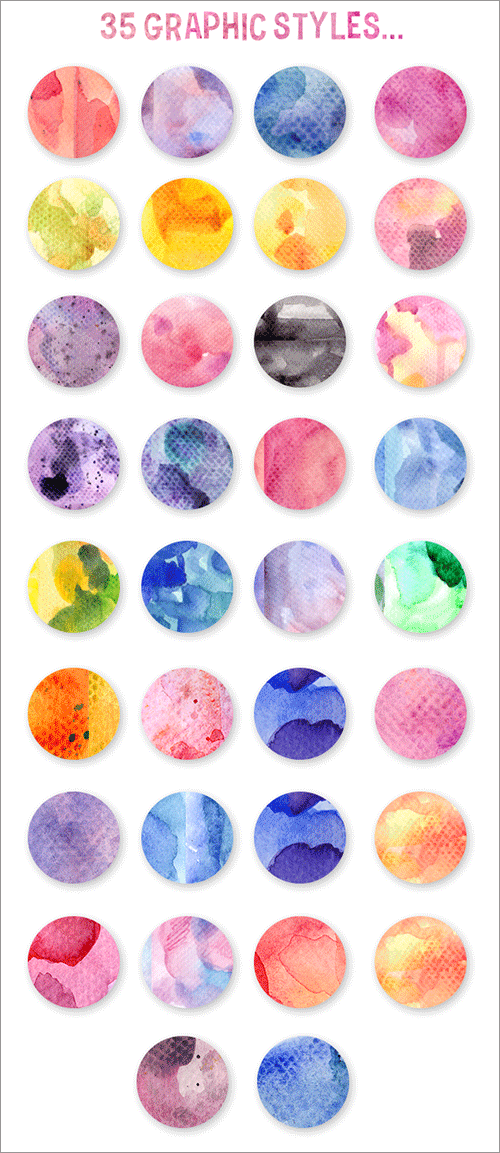 水彩のスタイル