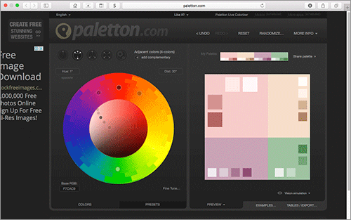 3色の隣接色相によるアクセントカラー