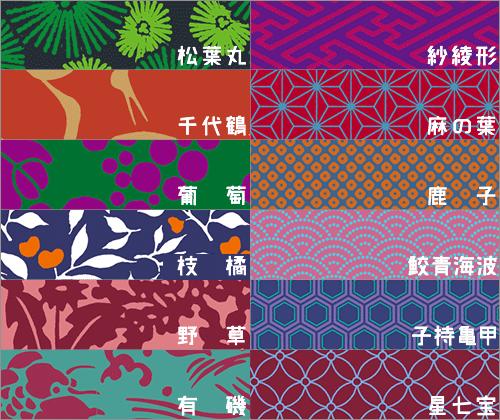 日本の伝統的な文様がシームレスにつかえるパターン素材 -Japanese Mon