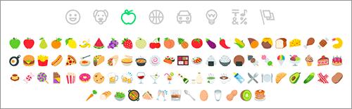 食べ物や飲み物の絵文字