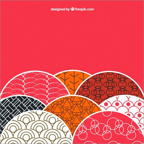 和のパターン素材のキャプチャ